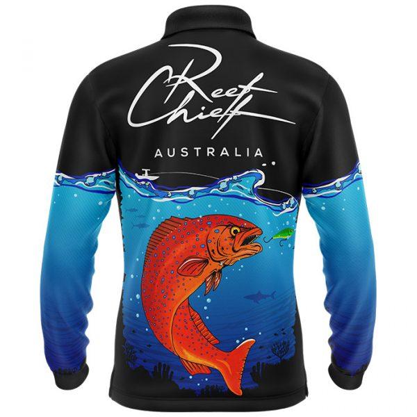 kids coral trout fishing shirt