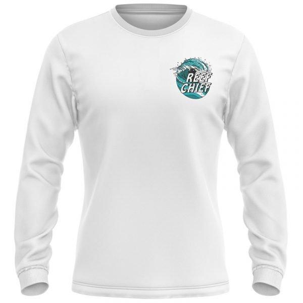 ocean wave fishing shirt front