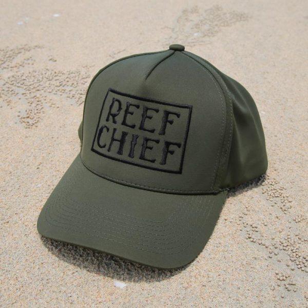 reef chief olive cap