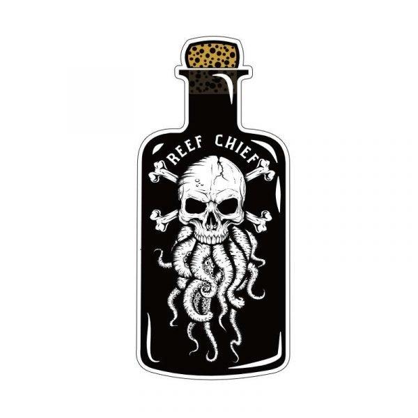 octopus skull sticker